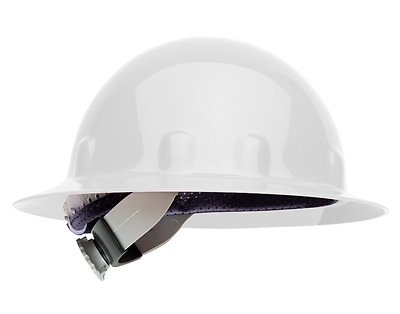 Fibre-Metal by Honeywell Super Eight Full Brim Swing Strap Hard Hat, White