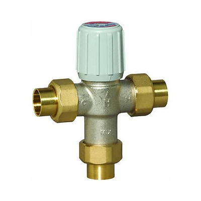 "Honeywell AM101-US-1 Sparco Thermostatic Mixing Valve, 3/4"" Union-Sweat 100-145F"