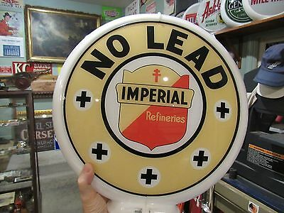 100% Original Imperial Refineries Gas Pump Globe Lens In Excellent Condition