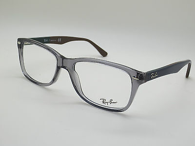 NEW Authentic Ray Ban RB 5228 5546 Grey Transparent/Blue 55mm RX Eyeglasses