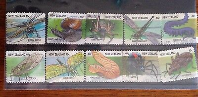 New Zealand Stamps -1997 Creepy Crawlies Used