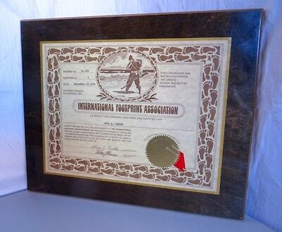 International Footprint Assoc Award Plaque 1974 Fresno CA Police Law Enforcement