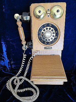 Vintage TT System The Country Store Oak Wall Telephone Made in Taiwan ORIGINAL