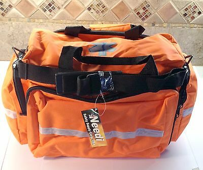 Medical Emergency EMS EMT Paramedic Trauma Bag w Reflectors Orange Neon