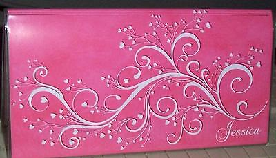 Personalized PINK FLOURISHES  Checkbook Cover GIFT IDEAS FREE SHIPPING