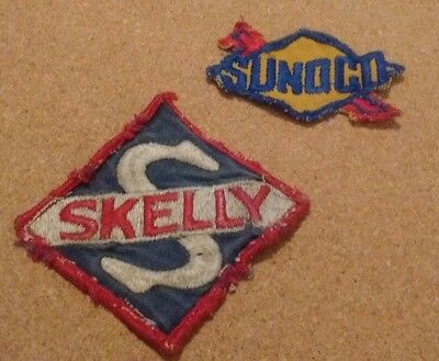Vintage Sunoco Uniform Patch,and Vintage Skelly Oil Patch