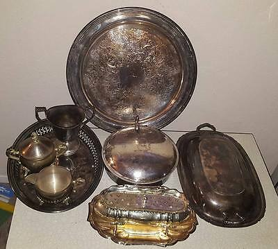 silverplate mixed lot 9 pcs (Reed and Barton, Gorham, Godinger, Webster Wilcox)