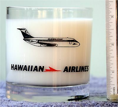 HAWAIIAN AIRLINES Old Fashioned Style Whiskey ROCKS / GLASS / TUMBLER