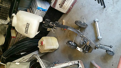Husqvarna Concrete trolley and water tank and wall cut rollers K1250/1260