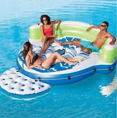 NEW Inflatable Pool Lake Chair Party Lounge River water Raft Floating Island