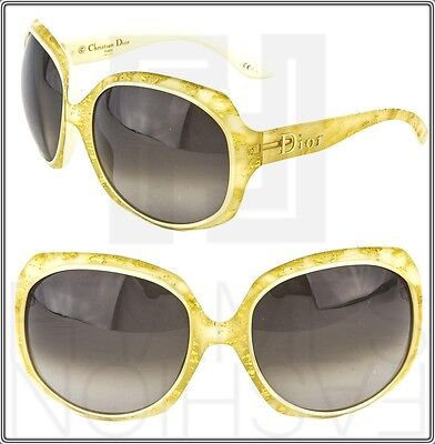 d3a30c69f2f0 CHRISTIAN DIOR Glossy Gold Leaf 1G Oversized Ivory GLOSSY1 Gradient  Sunglasses