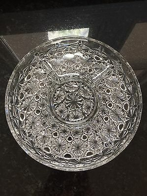 Lovely Cut Crystal Divided Savoury Dish