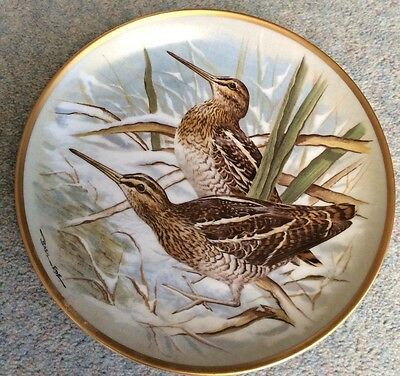 """BASIL EDE- GAME BIRDS OF THE WORLD - Common snipe - 9"""" - France"""