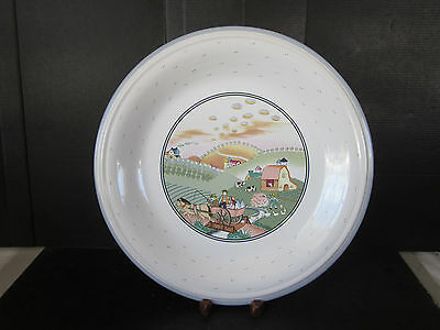 "Studio Nova Homecoming Pattern 12"" Serv Platter Y-2317 Dishwash Microwave Safe"