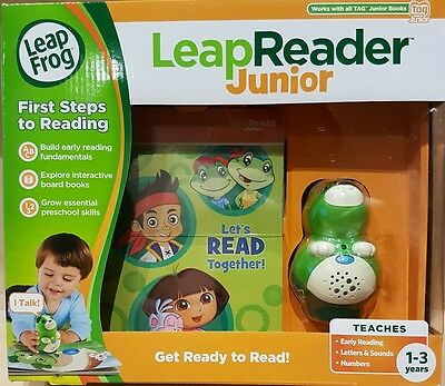 LeapFrog LeapReader Junior Reading System Green NEW Works with TAG Jnr Books