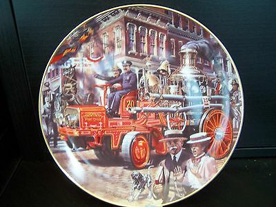 Franklin Mint- Nat Fire Museum - Heirloom Collectors Plate - American La France