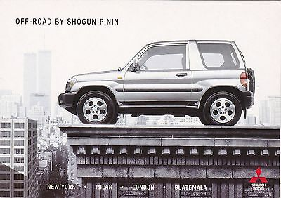 Official Mitsubishi Shogun Pinin Promotional Postcard
