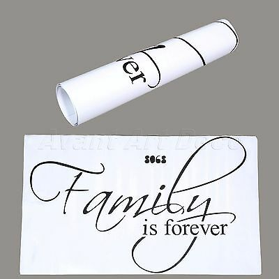 Family is Forever Quote Words Wall Decals Art Sticker Home Decor Mural Wallpaper