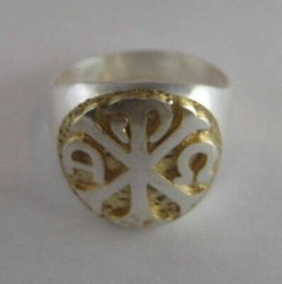 Solid silver Bishop-Cleric ring, CHI RHO - 24252