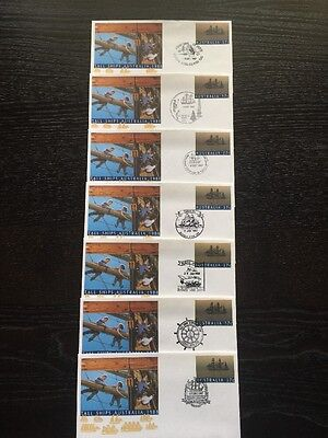 Tall Ships Australia 1988 FDC With Special Cancels X 7