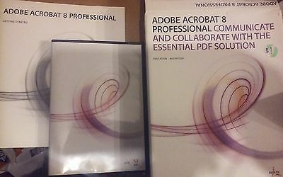 Adobe Acrobat 8 Professional for Macintosh w/ S/N in box with booklet