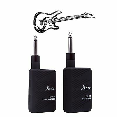 ROWIN 2.4GHZ Audio Wireless Digital Guitar Transmitter and Receiver Set Musik