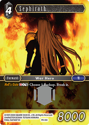 Sephiroth Promo Card *MINT* - Final Fantasy Trading Card Game