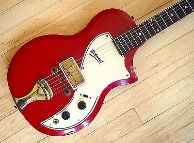 1958 Supro Belmont 1570 Vintage Electric Guitar Red Valco USA Made