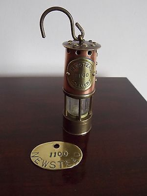 Vintage Newstead Colliery Minature Davy Lamp And Token