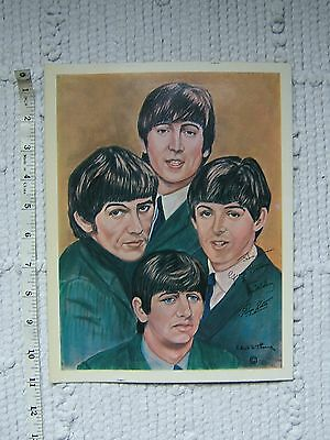 1964 official USA NEMS Beatles painting Robert S Thorne - litho print poster
