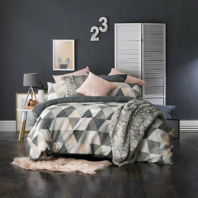 Bianca Marla Charcoal Doona Quilt Cover Set Double Queen King Super King Size