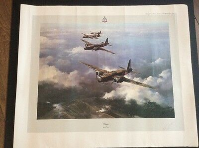 Wellington Bomber Print By Robert Taylor And Signed By Bill Tomlinson