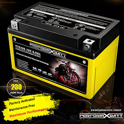 230CCA High Performance AGM Motorcycle Battery YTZ10S 12V 8.6Ah Honda Yamaha KTM