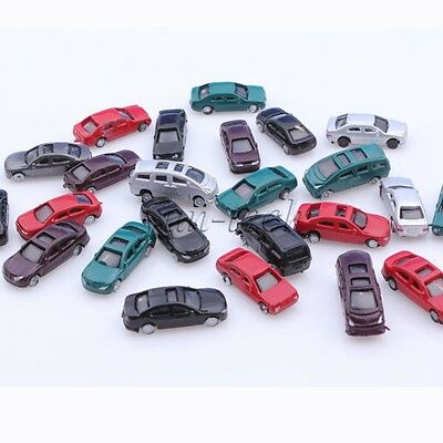 50pcs OO Gauge 1:75 Scale Painted Model Cars for Parking Scenery Train Layout