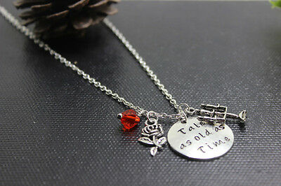 Tale as old as time Beauty and the Beast - Inspired Necklace Charm Fairy-tale