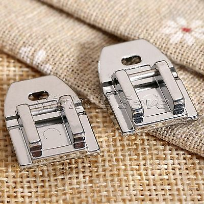 23*15mm Concealed Snap On Zipper Zip Foot Presser For Home Sewing Machine Metal