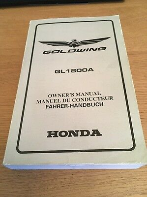 Honda GL1800 Goldwing Owners Manual 2001