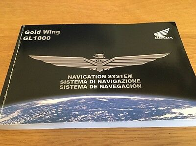 Honda GL1800 Goldwing Sat Nav Manual 2011