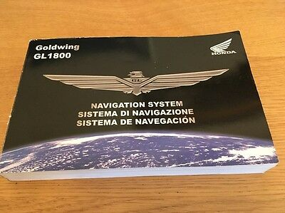 Honda GL1800 Goldwing Sat Nav Manual 2007