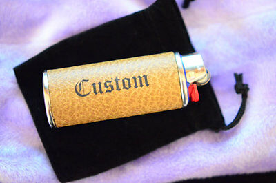 Custom Personalize Gift Lighter Case Cover Leather