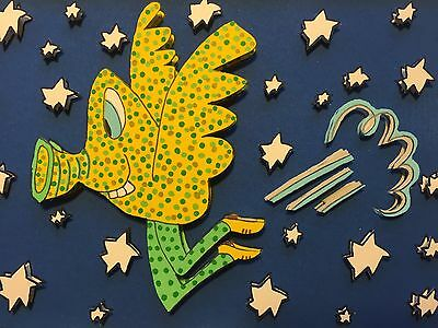 """James Rizzi: Original 3D """"COME FLY WITH ME"""", handsigniert, KRAZY KRITTERS 2001"""