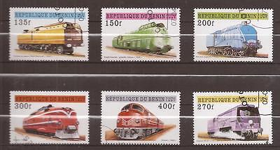BENIN 1997  -  Scott nr 9590 to 964  -   COMPLET SET -  Trains