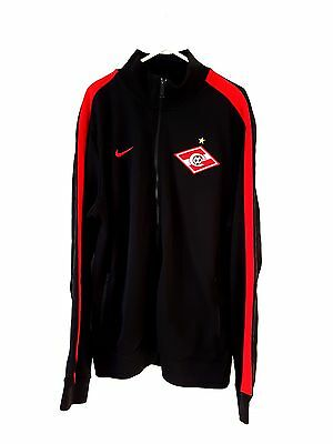 Spartak Moscow Track Top Jacket. XL. Nike. Black Adults Long Sleeves Football Co