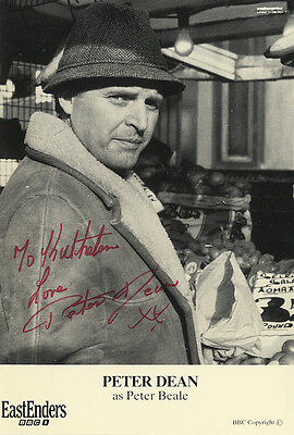 Peter Dean - 'Eastenders' - Pete Beale - Signed B & W Photograph.