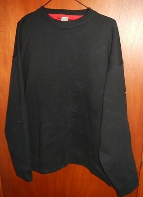 Nike Men's Black Fleece Long Sleeve Pullover Sweatshirt Size XL