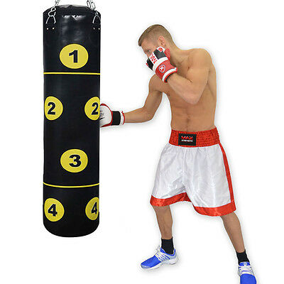 MAXSTRENGTH 4ft Boxing Punching Bag Martial Art MMA Kick Fight Training Unfilled