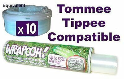 Tommee Tippee and Sangenic compatible nappy bin cassette liner from Wrapooh . No