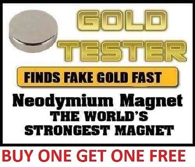 Rare Earth Neodymium Testing Magnet Pure/925/999 Silver Solid Gold Coins Tester.