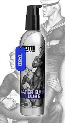 Tom of Finland Water Based Lube 227ml / 8 oz GAY NEW !!!! + FREE DOG TAG
