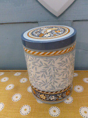 William Morris style design National Trust Pat Albeck storage tin kitchenalia